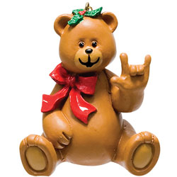 Girl Bear Holiday Ornament Price: $11.65