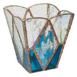 ILY Glass Candle Holder: Blue Price: $24.95