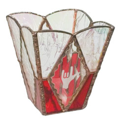 ILY Glass Candle Holder: Red Price: $24.95