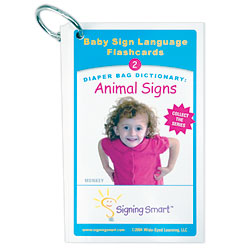 Diaper Bag Dictionary: Animal Signs Teaching Cards Price: $11.99