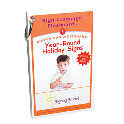 Signing Smart Diaper Bag Dictionary- Sign Language Flashcards-Holiday Signs