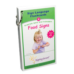 Signing Smart Diaper Bag Dictionary: Sign Language Flashcards-Food Signs Price: $11.99