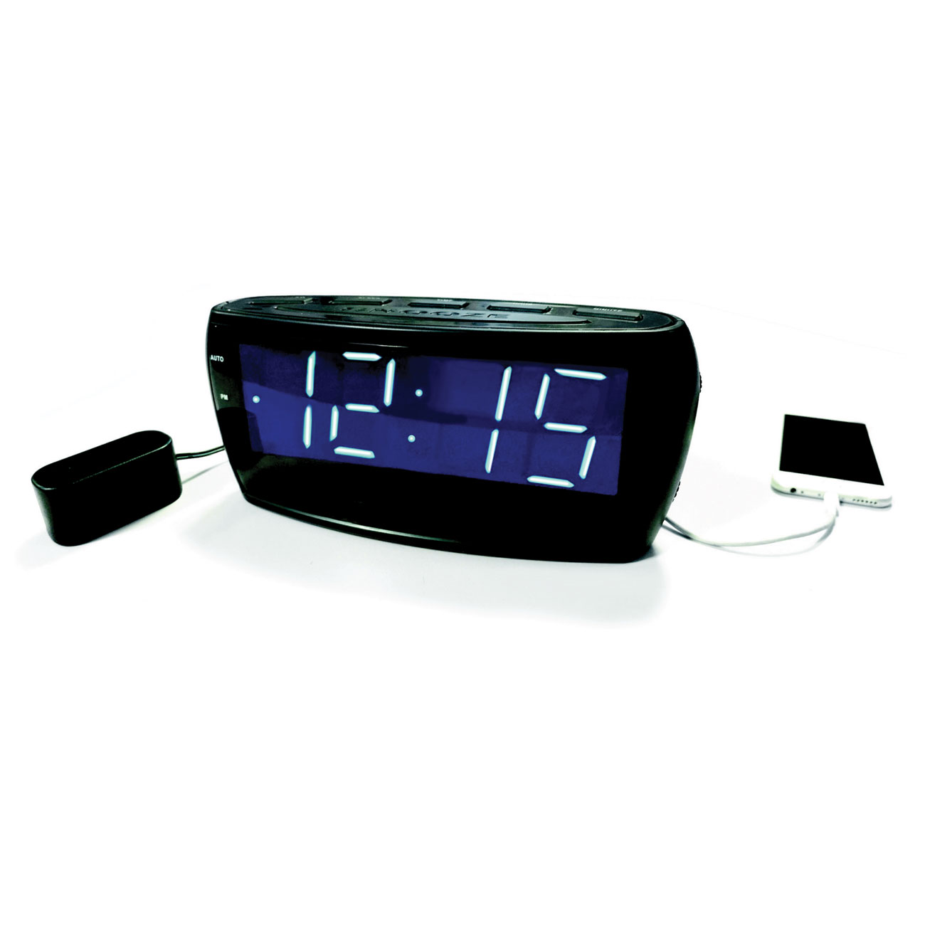 Krown VibeAlert 2.0 Alarm Clock w-Bed Shaker - click to view larger image