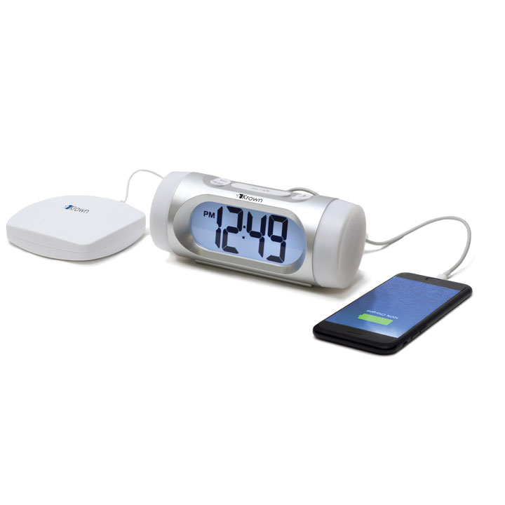 Krown Visual VibeAlert Alarm Clock w-Bed Shaker