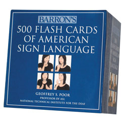 500 Flash Cards of American Sign Language: Boxed Set Price: $24.99