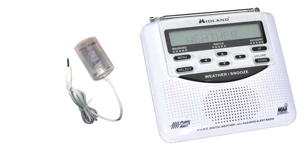 Midland Alert Weather Radio with Strobe Price: $139.00