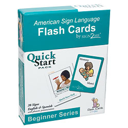 Sign2Me Flash Cards: Beginners Series Quick Start Pack Price: $11.95