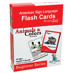 Sign2Me Flash Cards: Beginners Series Animals and Colors Pack Price: $11.95