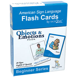 Sign2Me Flash Cards: Beginners Series: Objects and Emotions Pack Price: $11.95