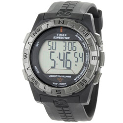 Timex Expedition Vibration Alarm Watch-Black-Black