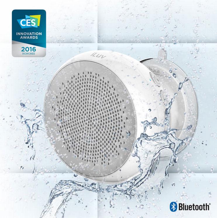 iLuv Aud Shower Water-Resistant Bluetooth Speaker