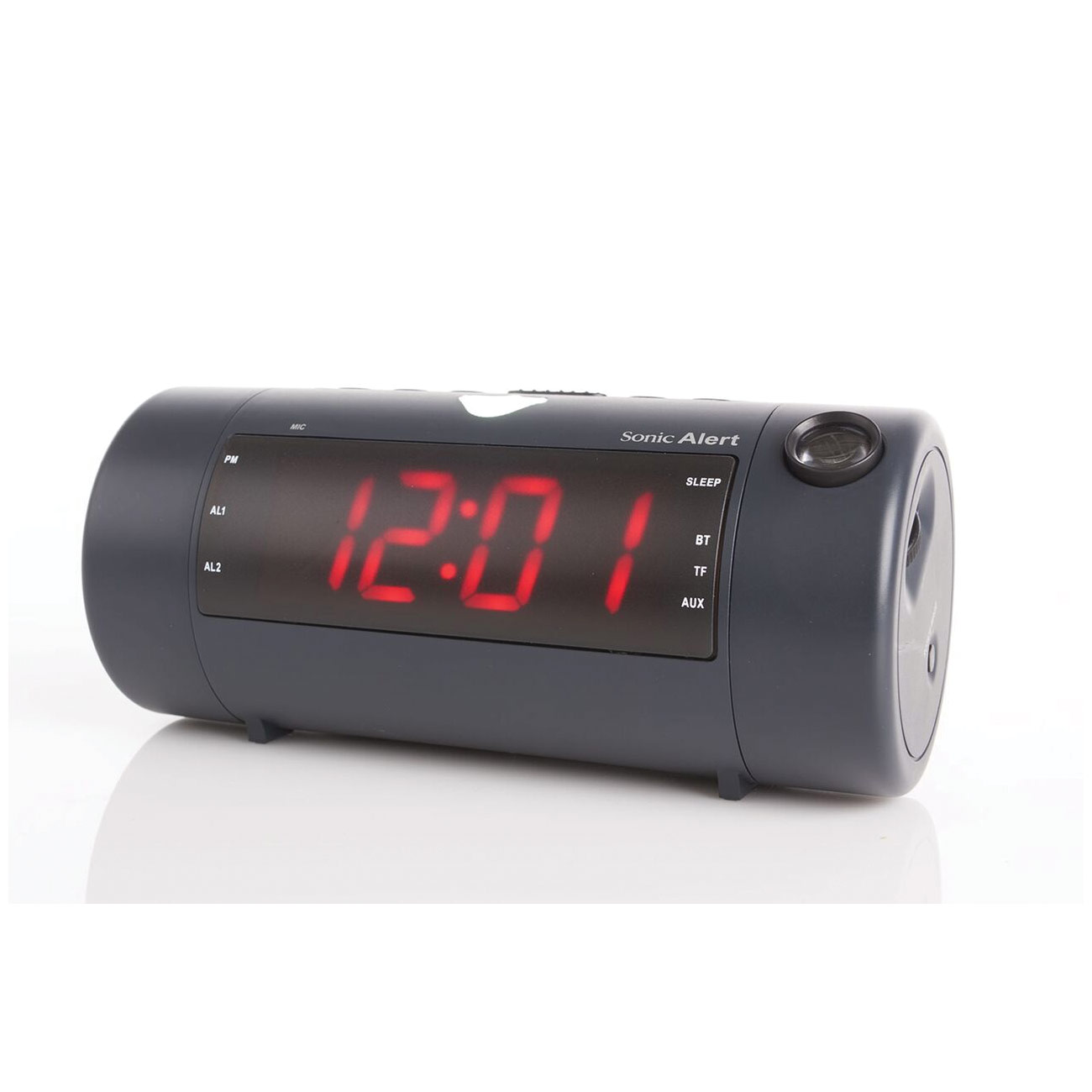 Sonic Blast Super Loud Projection Alarm Clock with Bluetooth Speaker