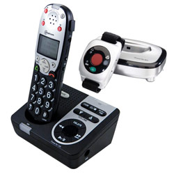 PowerTel 725 Amplified Cordless Phone-Answ Mach-Wrist Shaker - click to view larger image