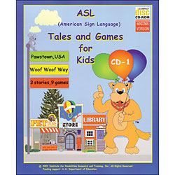 ASL Tales and Games for Kids (CDRom) Price: $34.95