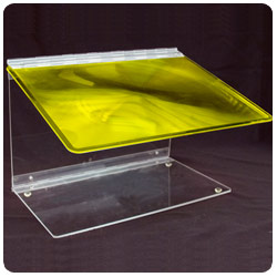 Reizen Fold-A-Mag 2x Folding Portable Page Magnifier- Yellow - click to view larger image