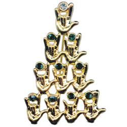 ILY Christmas Tree Pin