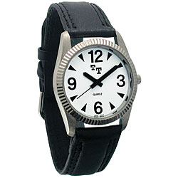 Tel-Time Low Vision Watch- Mens with Leather Band Price: $24.95