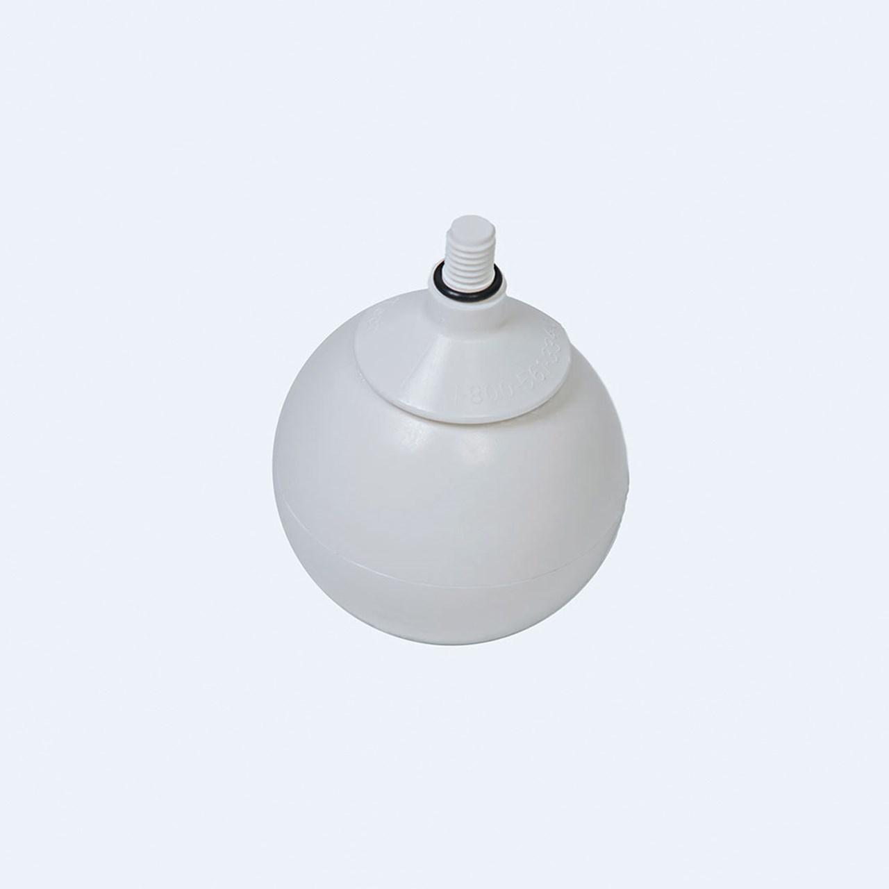 Ambutech 8mm Threaded Rolling Ball Tip - White