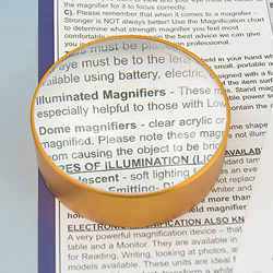 Dome Magnifier with Aluminum Frame - 5x 75mm