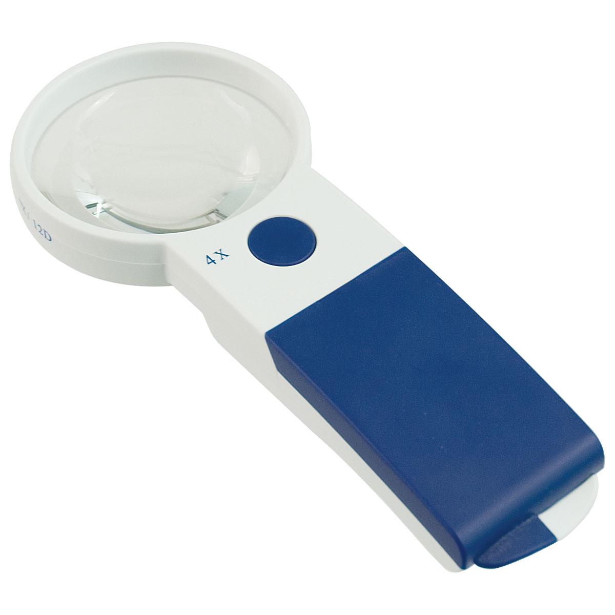 Reizen EZ Touch 4X 12D LED Handheld Magnifier - Round Lens 70mm