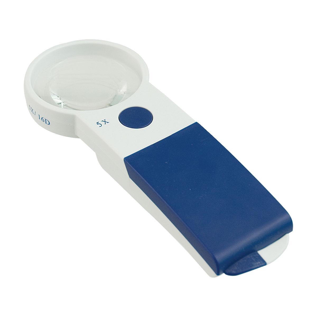 Reizen EZ Touch 5X 16D LED Handheld Magnifier - Round Lens 60mm