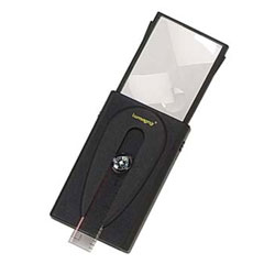 Reizen Illuminated Sliding Magnifier with Pop Up Lens - 2x or 5x