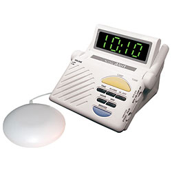 Sonic Alert Sonic Boom Alarm Clock with Bed Shaker SB1000SS - click to view larger image