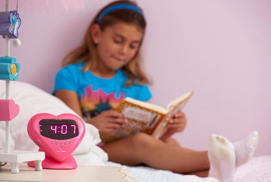 Sonic Boom Sweetheart Alarm Clock - Pink