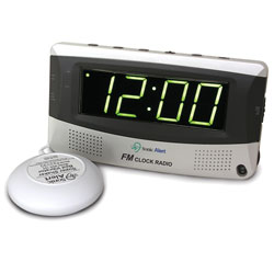 Sonic Alert Alarm Clock with Bed Shaker and Radio Price: $48.95