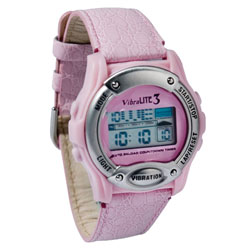 VibraLITE 3 Vibration Watch Pink Crocodile Band Price: $59.95