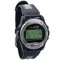 Vibralite 3 (Black with Black Leather Band) Price: $59.95