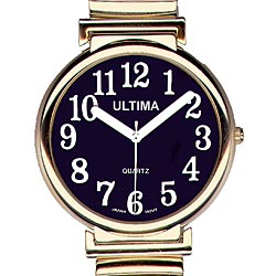 Ultima Low Vision Watch - Black Dial-Unisex Price: $19.95
