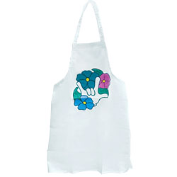 Kitchen Apron with I Love You Flower Design