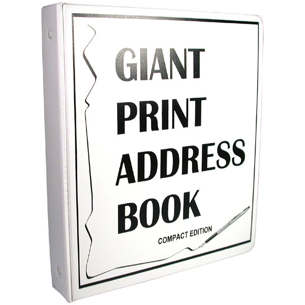 compact edition giant print address book for low vision click to view larger image