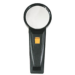 Reizen Illuminated Pocket Magnifier - 2.5x -5x insert  2 inch Dia