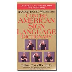 Random House Websters- Concise ASL Dictionary