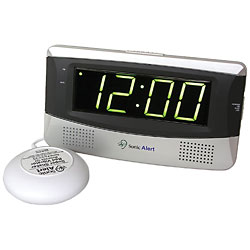 Sonic Alert Alarm Clock with Bed Shaker Price: $39.95