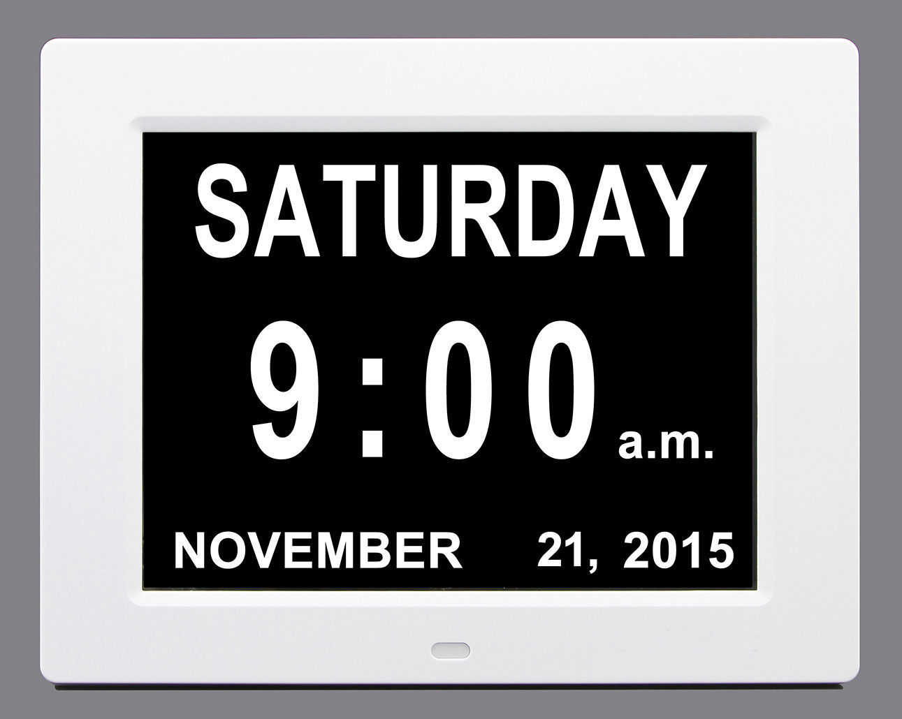 Digital Day and Time Calendar Clock