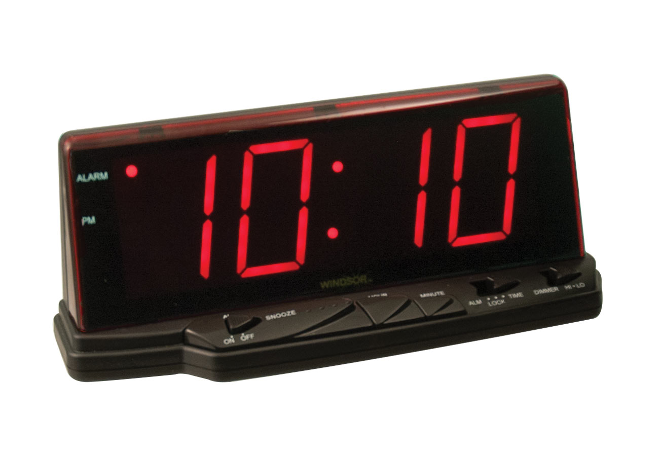 Digital Alarm Clock with Jumbo Display