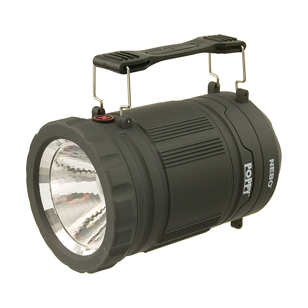 Poppy 300 Lumen Lantern and 120 Lumen Spot Light - Black