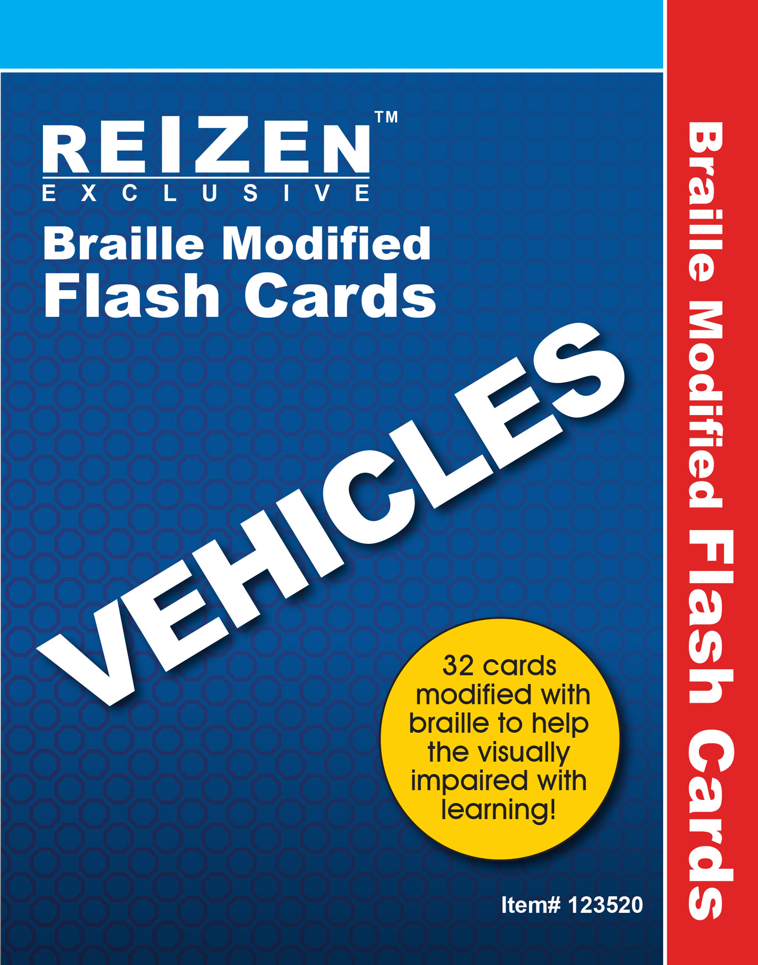 Vehicles Flash Braille Cards