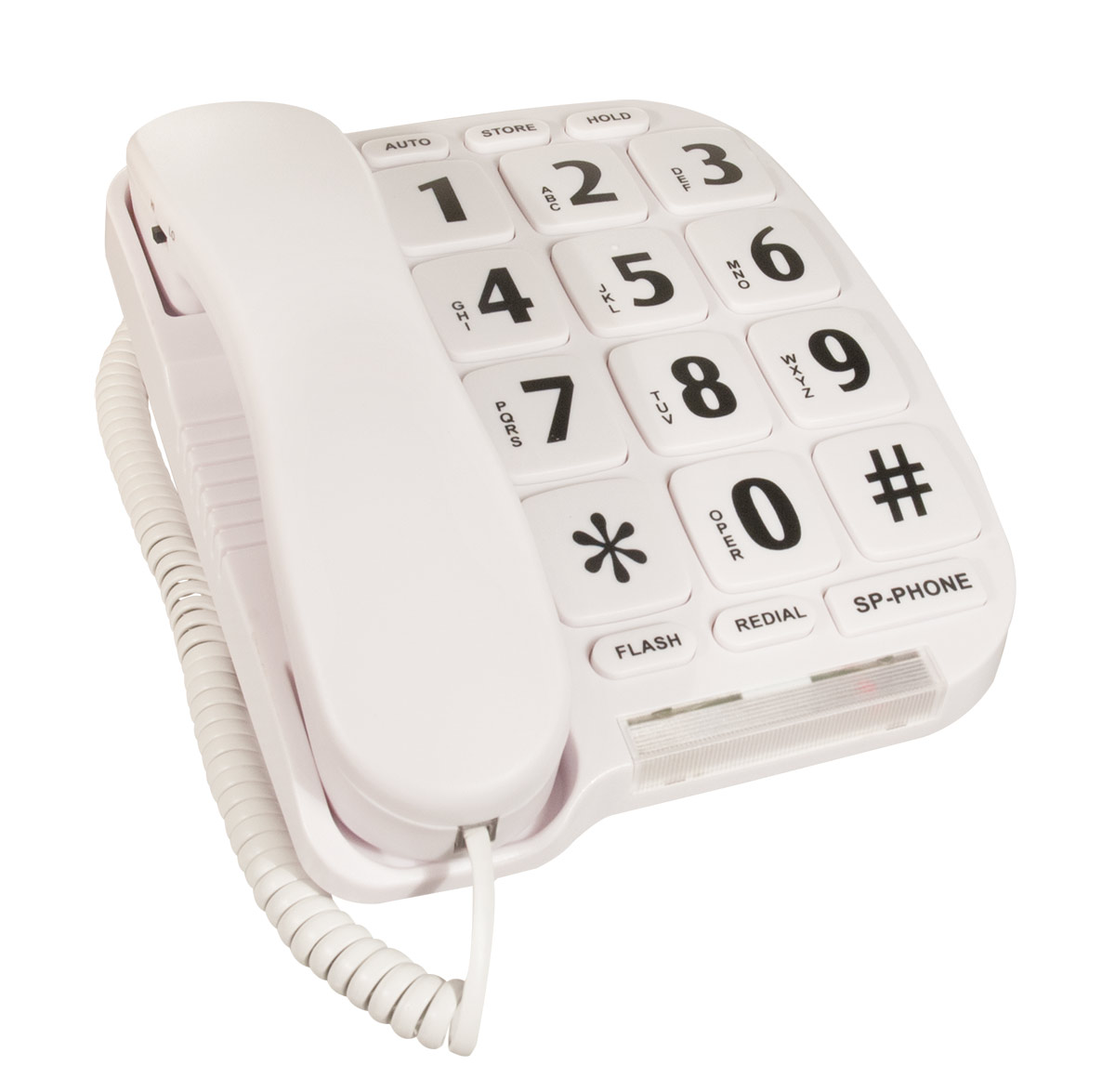 Large Button Telephone- White Color