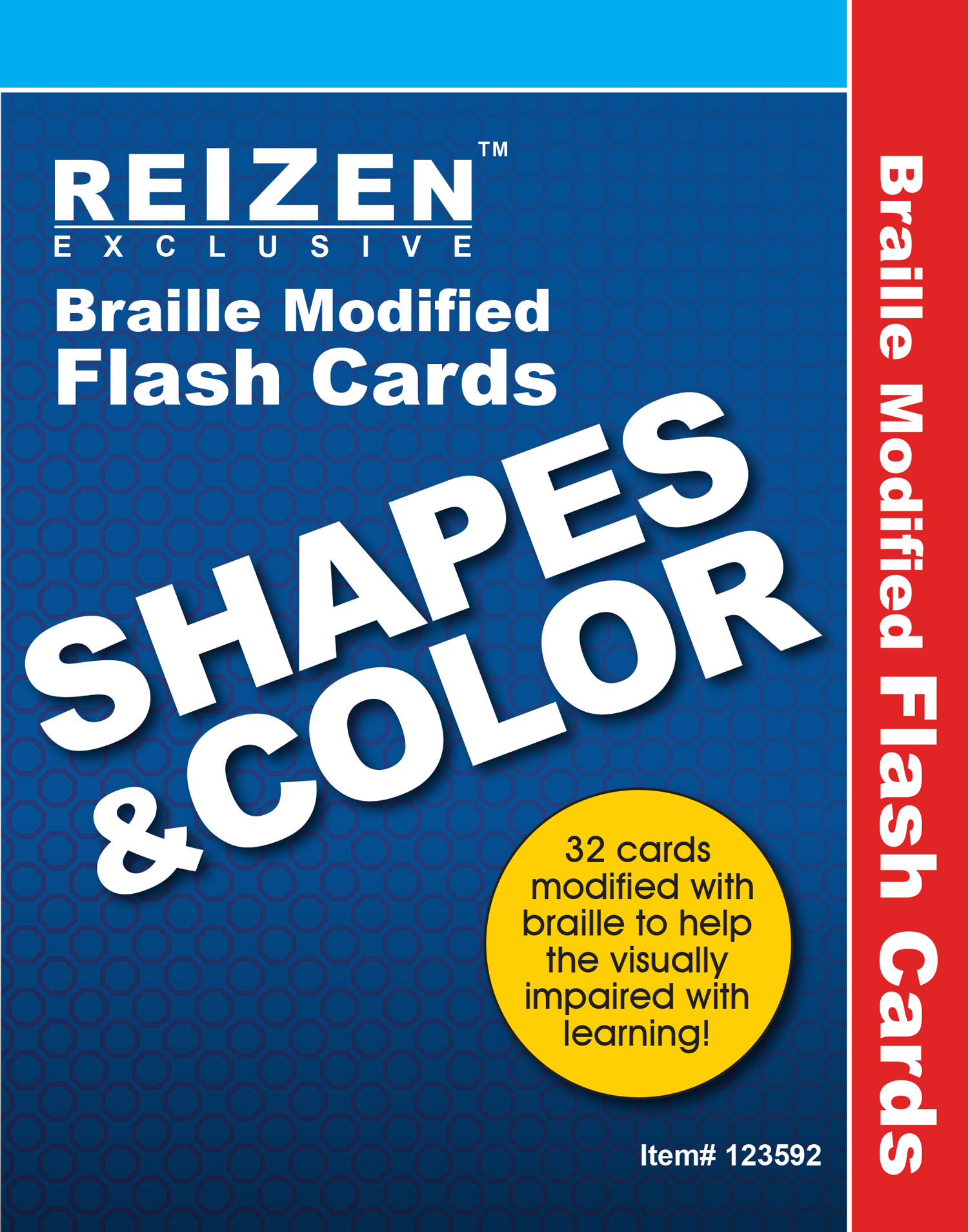 Shapes and Colors Flash Braille Cards