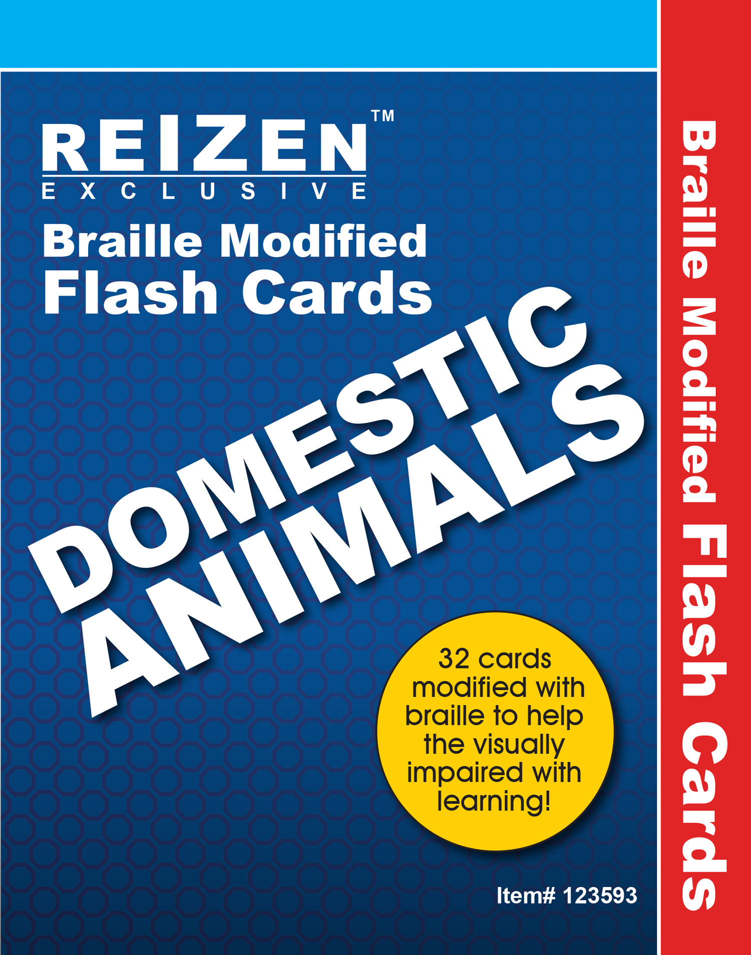 Domestic Animals Flash Braille Cards