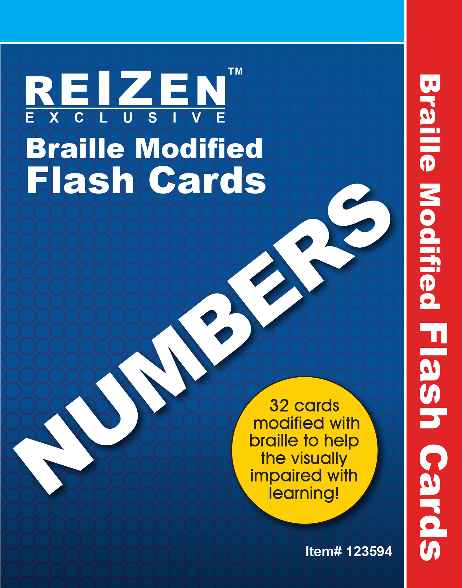 Numbers Flash Braille Cards