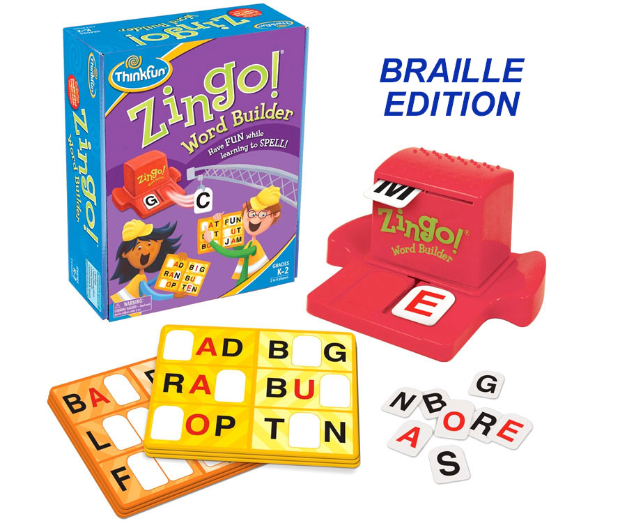 Zingo Word Builder - Braille - Modified by MaxiAids