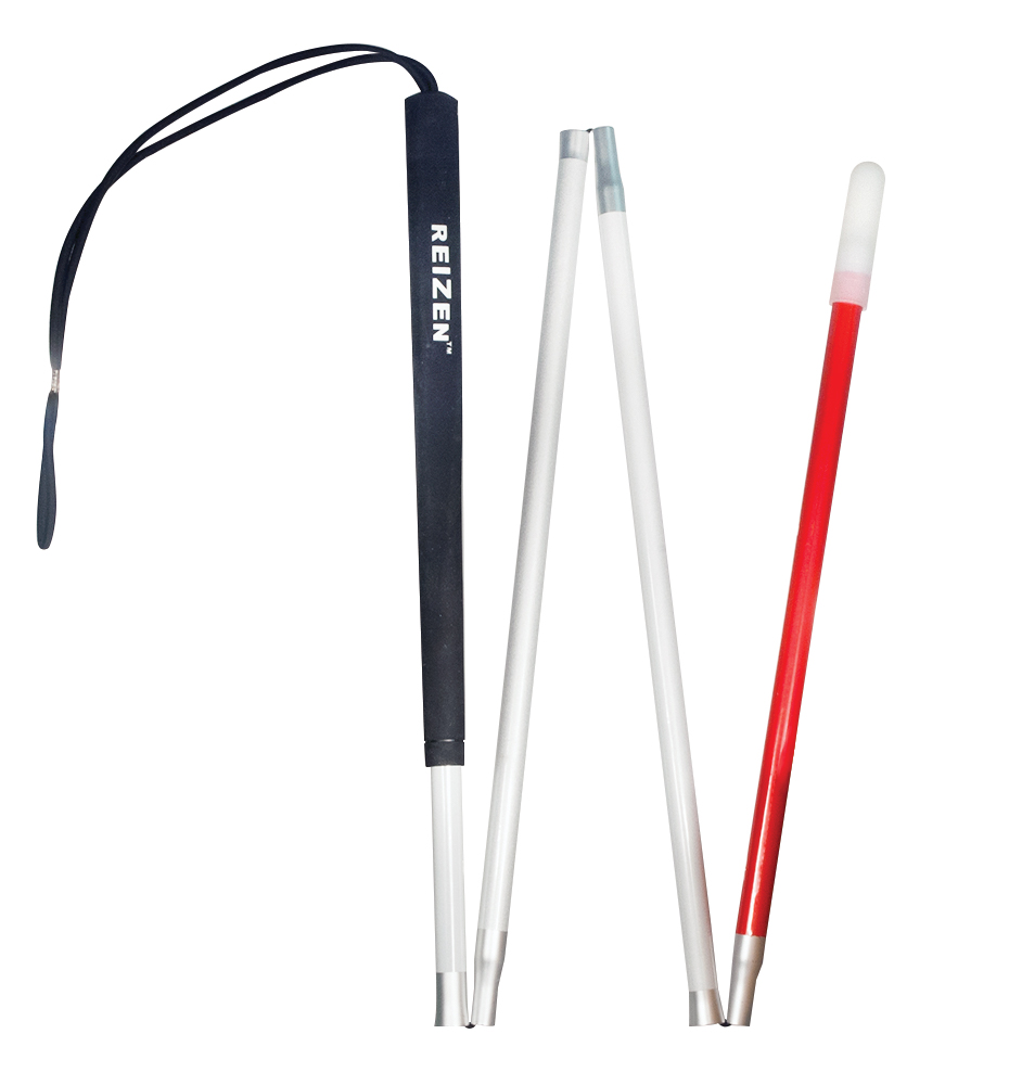 EUROPA Folding Aluminum Cane -4 Section  - 44 inches