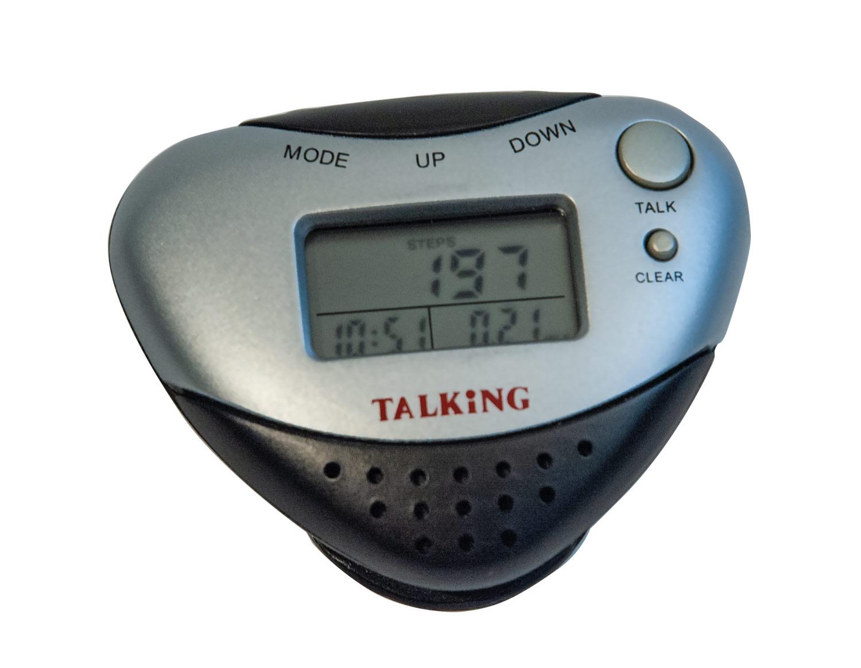Talking Pedometer with Alarm Clock