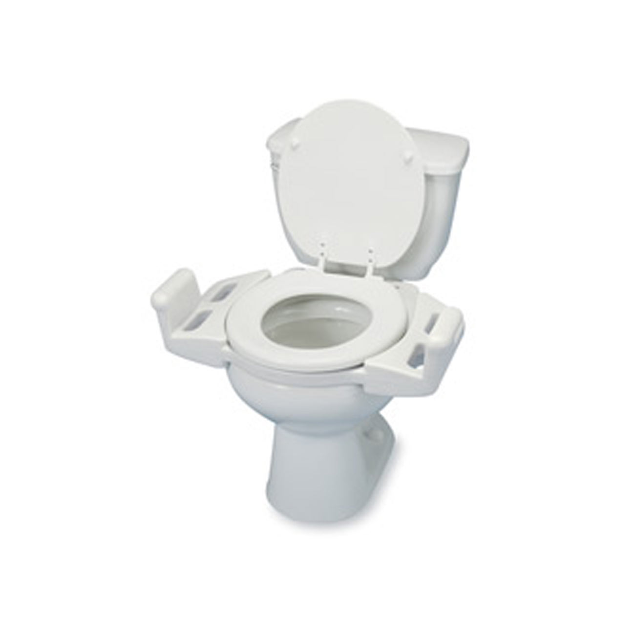 Lock-On Toilet Seat with Arms