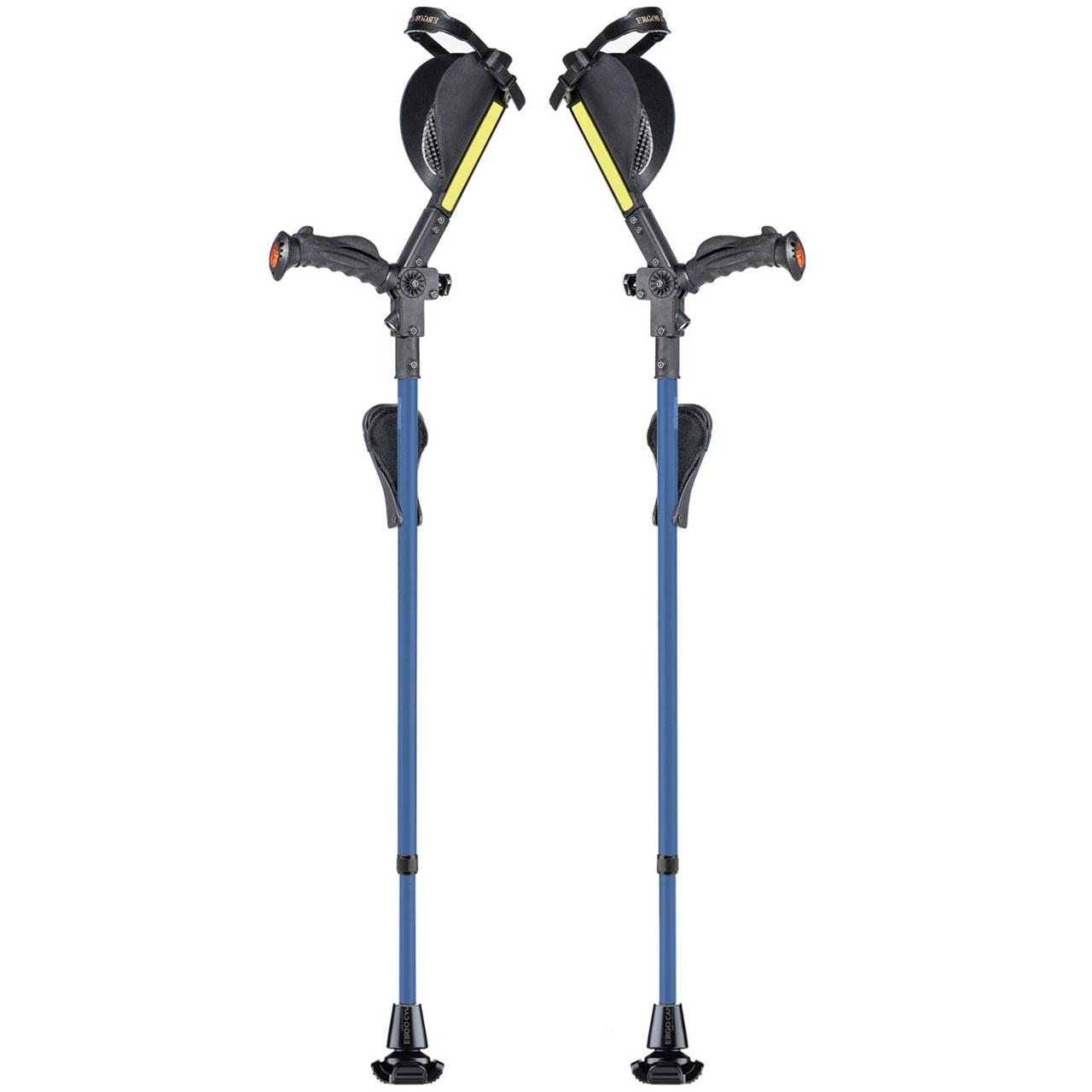 Ergobaum Ergonomic Forearm Crutches - Adult - Blue